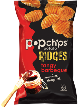 popchips Potato Ridges Tangy Barbeque Popped Chips