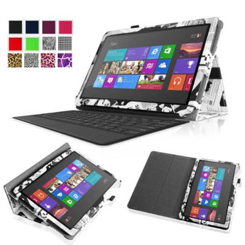 Fintie Folio Leather Case Cover for Microsoft Surface RT / Surface 2 10.6 inch Tablet, Newspaper