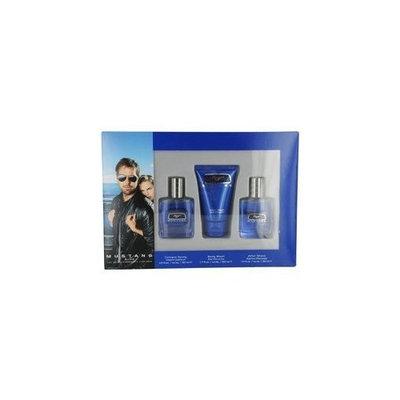 MUSTANG BLUE by Estée Lauder Gift Set for MEN: COLOGNE SPRAY 1 OZ & AFTERSHAVE 1 OZ & BODY WASH 1.7 OZ