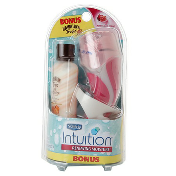 Schick Intuition Renewing Moisture Razor with HT Silk Hydration Sunscreen