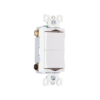 Legrand TradeMaster 15A120V Decorator Double Throw Momentary Contact Switch Center Off in Light Almond