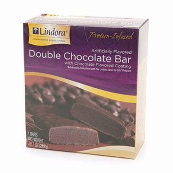Lindora Double Chocolate Bar with Chocolate Flavored Coating