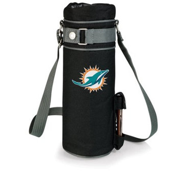 Nfl - Miami Dolphins Picnic Time NFL Miami Dolphins Wine Sack Digital Print Insulated Single Bottle Tote