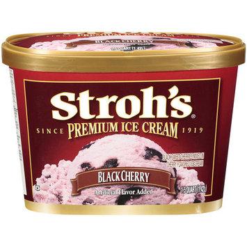 Stroh's Premium Black Cherry Ice Cream, 1.5qt