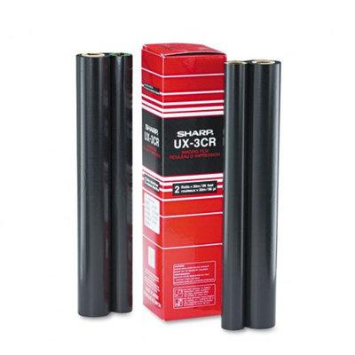 Sharp UX3CR Thermal Transfer Refill Ribbon, 2/Bx, Black