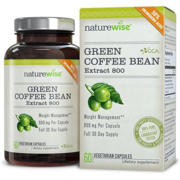 NatureWise Green Coffee Bean Extract 800 with GCA Natural Weight Loss Supplement, 60-ct