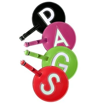 Pb Travel Initial Luggage tags - Set of 2