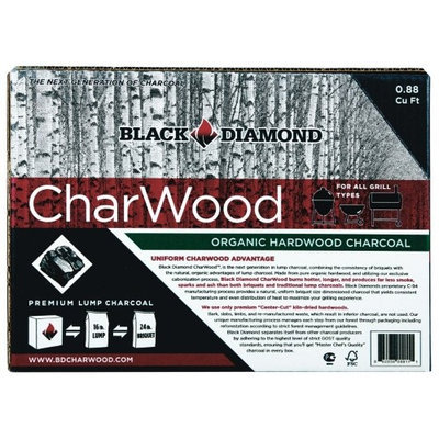 Black Diamond .88 Cu Ft Charwood Organic Lump Charcoal (BD088)