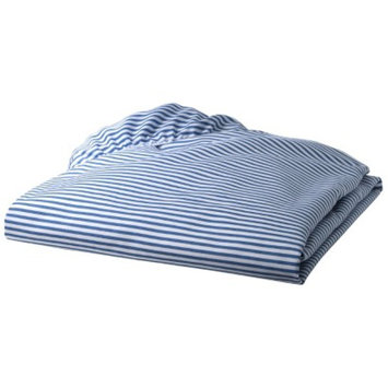 TL Care 100% Cotton Percale Fitted Crib Sheet - Chambray Stripe