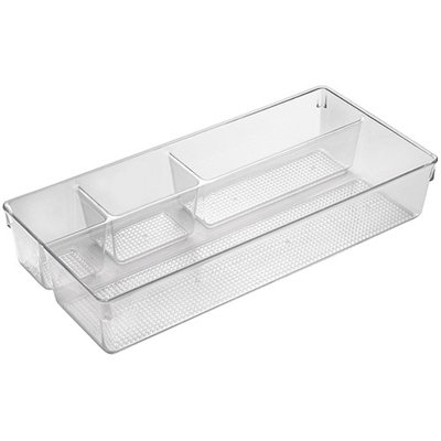 InterDesign Clarity Divided Cosmetic Tray