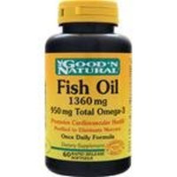 Good 'N Natural - Fish Oil with 950 mg. Total Omega-3 Once Daily Formula 1360 mg. - 60 Softgels Rapid Release