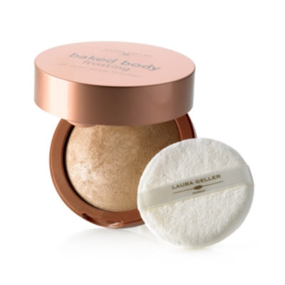 Laura Geller Beauty Baked Body Frosting with Body Puff