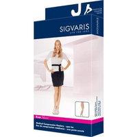 Sigvaris EverSheer Compression Pantyhose 15-20mmHg Women's Open Toe Short Length, Large Short, Natural