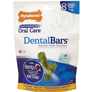 Nylabone Advanced Oral Care Rawhide Bars Dog Treats, 8 Count