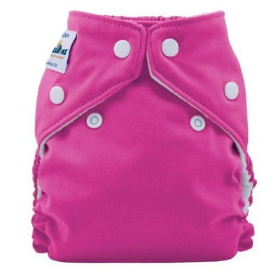 FuzziBunz Perfect Size Cloth Diaper, Crushed Berry, X-Small 4-12 lbs (Discontinued by Manufacturer)