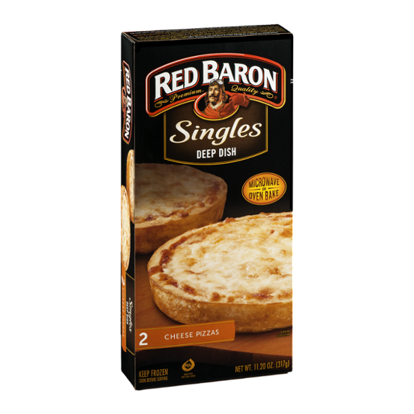 Red Baron Singles Deep Dish Pizzas Cheese - 2 CT