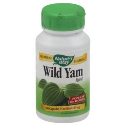 Nature's Way Wild Yam Root Dietary Supplement Capsules, 425mg, 100 count