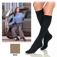 Jobst Women Pattern Trouser Socks, Knee Length 8-15 mmHg Compression, Sand Color, Size: Large - 1 Piece