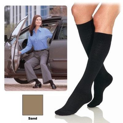 Jobst Women Pattern Trouser Socks, Knee Length 8-15 mmHg Compression, Sand Color, Size: Large - 1 Piece