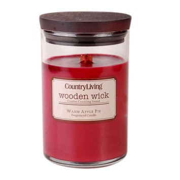 Country Living Wooden Wick 9.5oz Candle; Warm Apple Pie