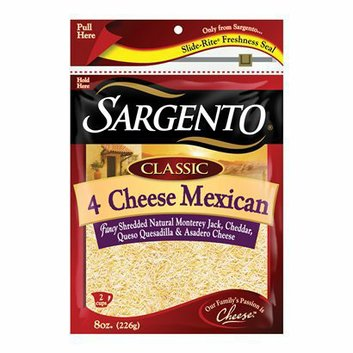 Sargento Classic 4 Cheese Mexican Fancy Shredded Cheese 8 oz