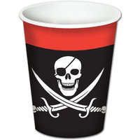Beistle - 58204 - Pirate Beverage Cups- Pack of 12