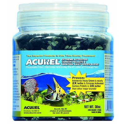 Acurel LLC Extreme Activated Carbon Pellets and Ammonia Away Green Blend, Aquarium and Pond Filter Accessory, 30-Ounce