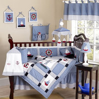 Sweet Jojo Designs Come Sail Away Collection 9pc Crib Bedding Set