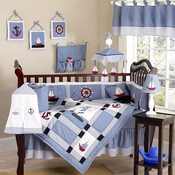 Sweet Jojo Designs Come Sail Away Collection 9pc Crib Bedding Set
