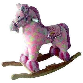 Trademark Happy Trails Plush Rocking Pony with Sound - Pink