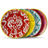 Mudhut Ikat Salad Plate Set of 4