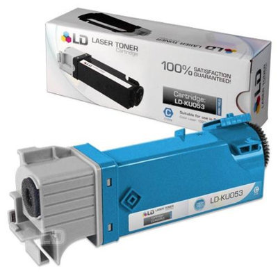 LD Compatible Toner to replace Dell KU053 (310-9060) High Yield Cyan Toner Cartridge for your Dell 1320c / 1320 Color Laser Printer