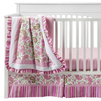 Trend Lab Paisley Park 3Pc Crib Bedding Set - Pink/Sage by Lab
