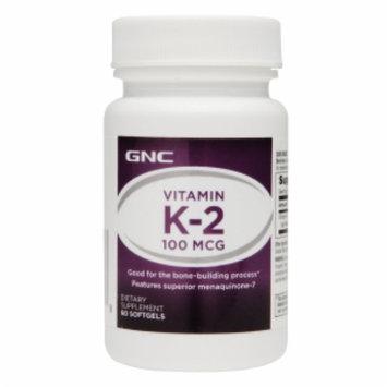 GNC Vitamin K-2 100mcg, Softgels, 60 ea