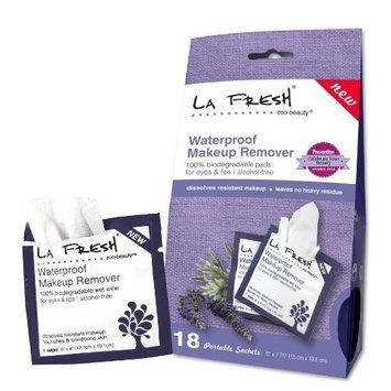 La Fresh Eco Beauty Waterproof Makeup Remover Wipes, 18 Count
