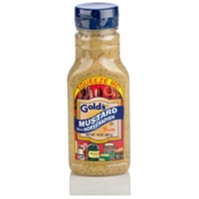 Gold's Golds Squeeze Mustard with Horseradish (12x10 Oz)