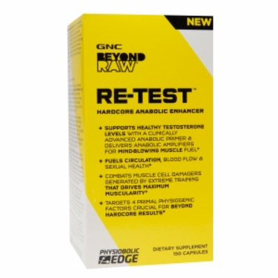 GNC Beyond RAW RE-TEST Hardcore Anabolic Enhancer, Capsules, 150 ea