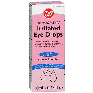 Walgreens Homeopathic Irritated Eye Drops