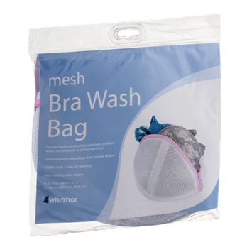 Whitmor Mesh Bra Wash Bag