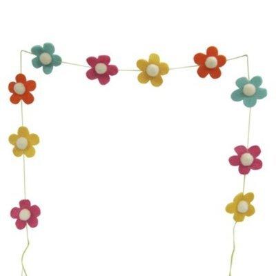 Crescent Easter Wool Flower Garland
