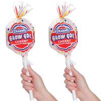 Diversified Licensing (Set/2) Charms Giant Blow Pop Containers w/ 8 Assorted Hard Candy Lollipops