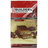 Clif Bar Builder's Bar, Variety Pack, 9 Chocolate and 9 Chocolate Peanut Butter, 2.4-Ounce Bars, 18 Count