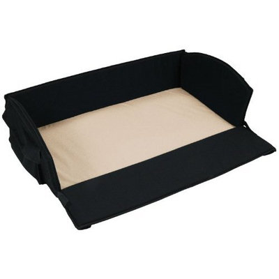 Leachco Nap 'N Pack 4 in 1 Anywhere Bed, Black with Khaki Sheet