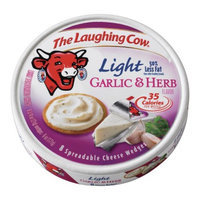 Laughing Cow The  Light Garlic & Herb Spreadable Cheese Wedges 8 ct