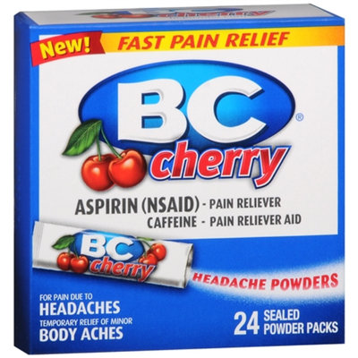 BC Headache Powders, Cherry, 24 ea