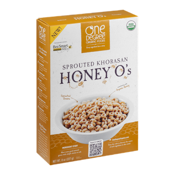 One Degree Organic Foods Sprouted Khorasan Honey O's
