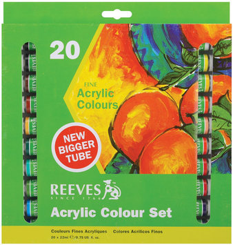 Alvin & Company Alvin 8390112 REEVES ACRYLICS 22ml SET- 20