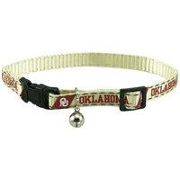 Pet Goods Mfg NCAA Oklahoma Sooners Cream Breakaway Cat Collar
