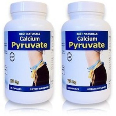 #1 Calcium Pyruvate 750 mg 120 Capsules by Best Naturals (Pack of 2)