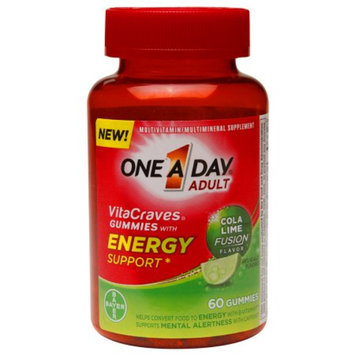 One A Day VitaCraves Energy Support Gummies Cola Lime